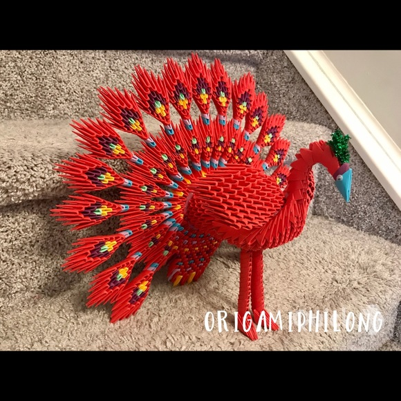 Papercraft 3d origami peacock tutorial (easy) part 1 - YouTube ...   580x580